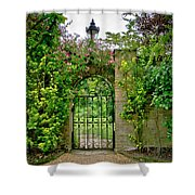At The Secrete Gate To The Garden. Shower Curtain