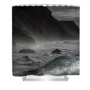 At The Sight Of The Wave Shower Curtain