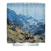 At The Summit Shower Curtain