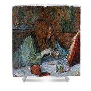 At The Toilet, Madame Poupoule Shower Curtain