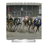 At The Track Shower Curtain
