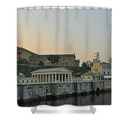 At The Waterworks - Phildelphia Shower Curtain