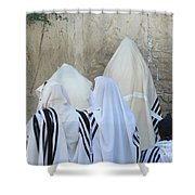 At The Western Wall Shower Curtain