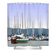At The Yacht Club Shower Curtain