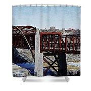 At Three Bridges Park Shower Curtain