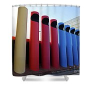 A T And T Switching Station, Columbus, Indiana Shower Curtain