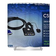 Aten's 2 Port Usb Cable Kvm Switch - Cs22u Shower Curtain