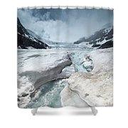 Athabasca Glacier, Alberta, Canada Shower Curtain