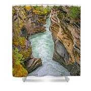 Athabasca River Canyon Shower Curtain