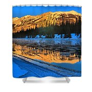 Athabasca River Glow Shower Curtain
