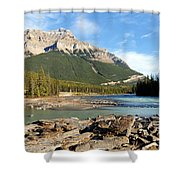 Athabasca River Shower Curtain