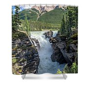 Athabaska Falls, Mt. Hardisty Shower Curtain
