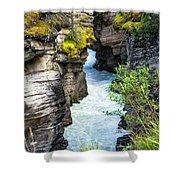 Athabaska River Slot Canyon Shower Curtain