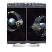 Athena Interceptor Shower Curtain