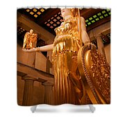 Athena With Nike Shower Curtain