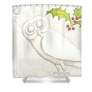 Athenian Owl Shower Curtain