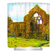 Athenry Ruin Shower Curtain