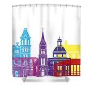 Athens Oh Skyline Pop Shower Curtain