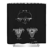 Athletic Shoe Cleats Shower Curtain