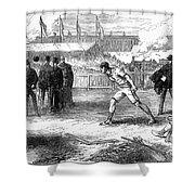 Athletics: Shot Put, 1875 Shower Curtain