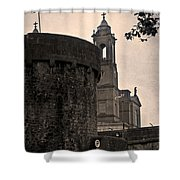Athlone Castle And Church Shower Curtain