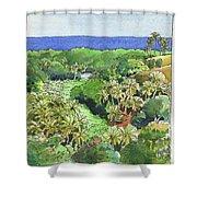 Atiu Lake View Shower Curtain