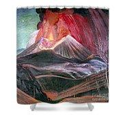 Atl: Volcano, 1943 Shower Curtain