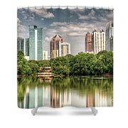 Atlanta As Viewed From Piedmont Park Shower Curtain