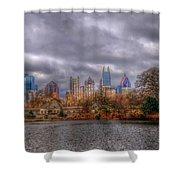 Atlanta City Skyline Georgia Usa Hdr Shower Curtain