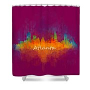 Atlanta City Skyline Uhq V4 Shower Curtain