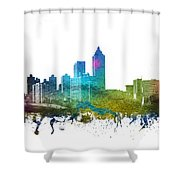 Atlanta Cityscape 01 Shower Curtain