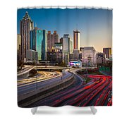 Atlanta Downtown Lights Shower Curtain