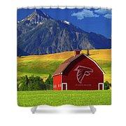 Atlanta Falcons Barn Shower Curtain