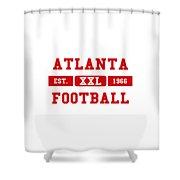 Atlanta Falcons Retro Shirt 2 Shower Curtain