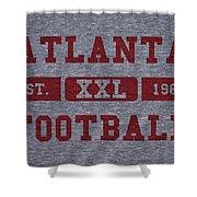 Atlanta Falcons Retro Shirt Shower Curtain