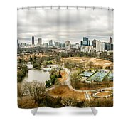 Atlanta Georgia City Skyline Shower Curtain