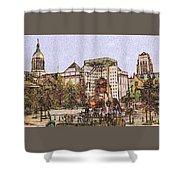 Atlanta Georgia Usa - Color Pencil Shower Curtain