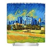 Atlanta Georgia Skyline 15 Shower Curtain