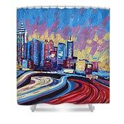Atlanta Georgia Skyline 17 Shower Curtain