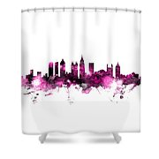 Atlanta Georgia Skyline Pink Shower Curtain