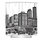 Atlanta Georgia Vector Shower Curtain