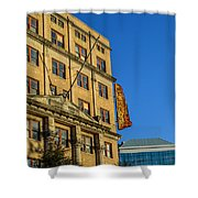 Atlanta Life Sign In Birmingham Alabama Shower Curtain