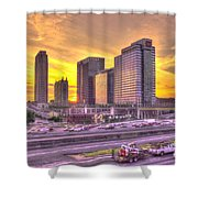 Atlanta Midtown Atlantic Station Sunset Shower Curtain