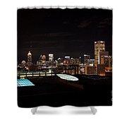 Atlanta Night Skyline Shower Curtain