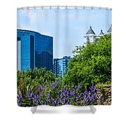 Atlanta Skyline From Atlanta Botanical Garden Shower Curtain