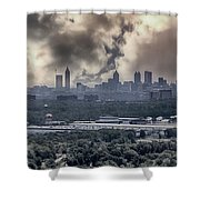 Atlanta Skyline Panoramic Shower Curtain