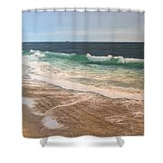 Atlantic Beach Waves Shower Curtain