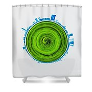 Atlantic City Abstract Shower Curtain