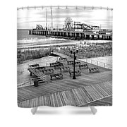 Atlantic City Boardwalk Shower Curtain