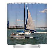 Atlantic City Series -12 Shower Curtain